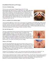 BLADDER SLINGS (TOT and TVT slings)