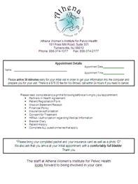 New Gynecologic Packet